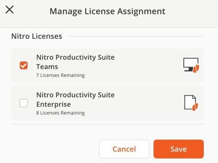License management checkbox