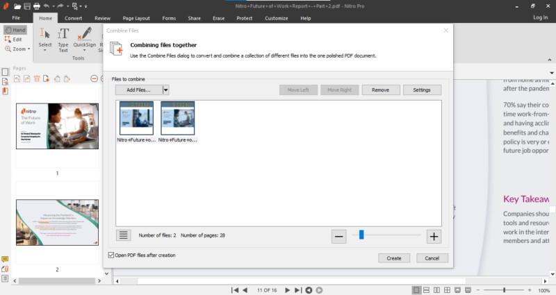 Nitro combine document screenshot